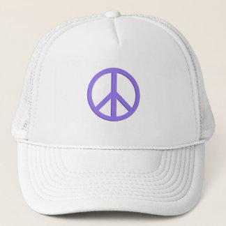 White Peace Hat in Purple