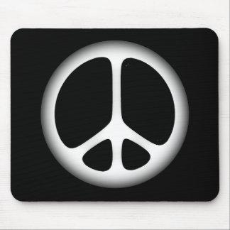 white peace mouse pad