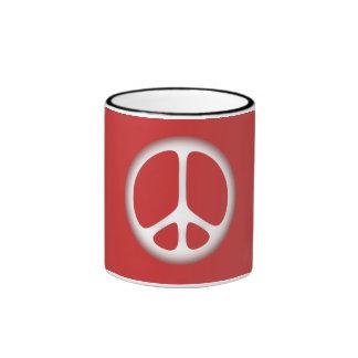white peace ringer mug