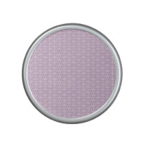 White Peace Signs on Pastel Lilac Speaker
