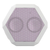 White Peace Signs on Pastel Lilac White Bluetooth Speaker