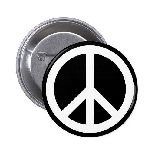 White Peace Symbol Pins