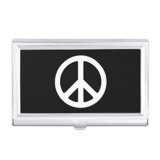 White Peace Symbol Template Business Card Case