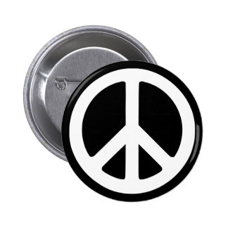 peace sign buttons pins zazzle. Black Bedroom Furniture Sets. Home Design Ideas