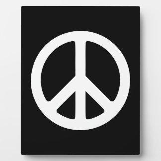 White Peace Symbol Template Plaque