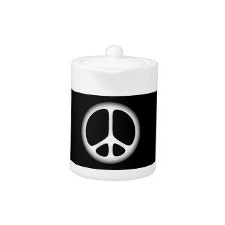 white peace teapot