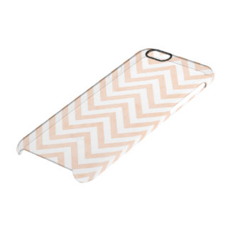 White Peach Chevrons Clearly™ Deflector Case