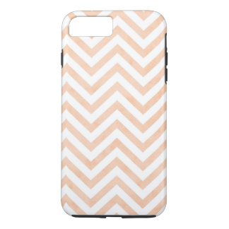 White Peach Chevrons iPhone 7 Plus, Tough iPhone 8 Plus/7 Plus Case