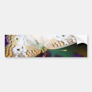White Peacock Anartia Jatrophae Bumper Sticker