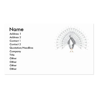 White Peacock Business Cards