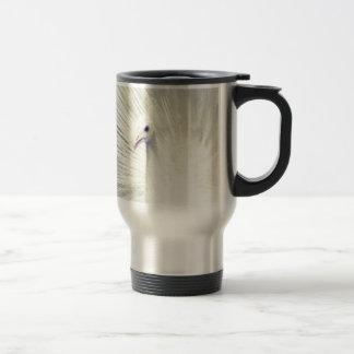 White Peacock Fine Art Photography 15 Oz Stainless Steel Travel Mug