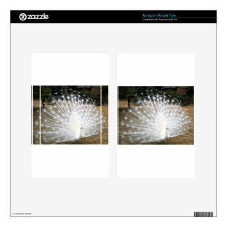 White Peacock Kindle Fire Skin