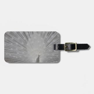 White Peacock Luggage Tag