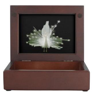 White Peacock Memory Box