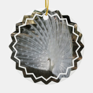White Peacock Ornaments