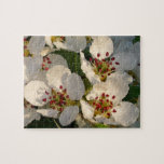 White Pear Blossom Jigsaw Puzzle