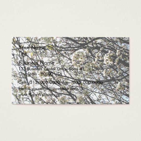White Pear Tree Blossoms Business Card