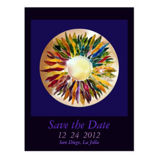 White Pearl Luxury Party Save the Date Postcard