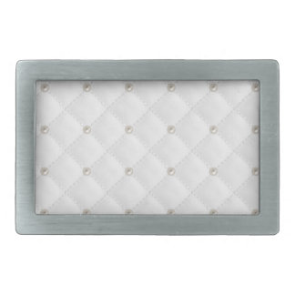 White Pearl Stud Quilted Belt Buckles
