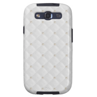 White Pearl Stud Quilted Samsung Galaxy SIII Covers