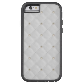 White Pearl Stud Quilted Tough Xtreme iPhone 6 Case