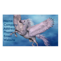 pegasus, wings, winged, divine, flight, flying, fable, horse, magic, fantasy, fairytale, folklore, creature, myth, mythology, mare, stallion, foal, equine, steed, animal, mount, wild, beast, brute, beautiful, beauty, charger, image, picture, illustration, Cartão de visita com design gráfico personalizado