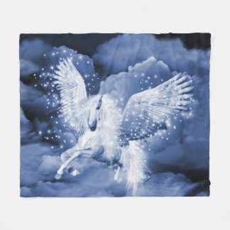 White Pegasus Fleece Blanket
