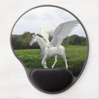 White Pegasus in a Field Gel Mouse Pad