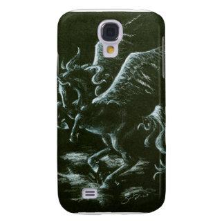 White Pegasus on Black Galaxy S4 Case