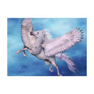 White Pegasus Wrapped Canvas