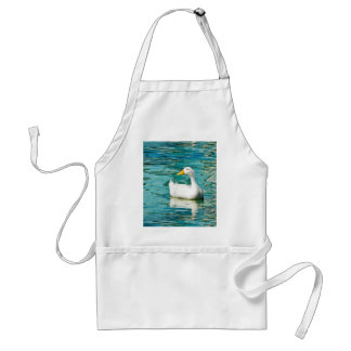 White Pekin Duck  - Nature Photo in Reflections Adult Apron