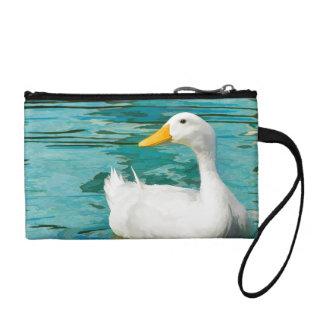 White Pekin Duck  - Nature Photo in Reflections Coin Purse