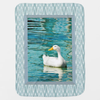 White Pekin Duck  - Nature Photo in Reflections Swaddle Blanket