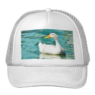 White Pekin Duck  - Nature Photo in Reflections Trucker Hat