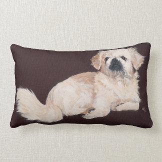White Pekingese Dog Pillow