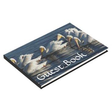 White Pelican Birds Ocean Wildlife Guest Book