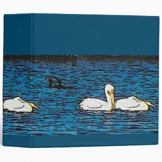 White Pelican Birds Wildlife Animals Binder