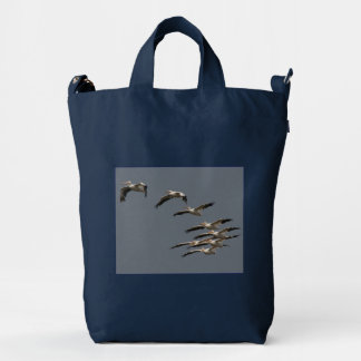 White Pelican Birds Wildlife Baggu Bag