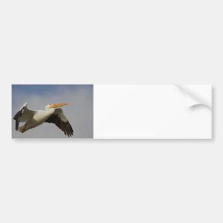 White Pelican Departure Bumper Sticker