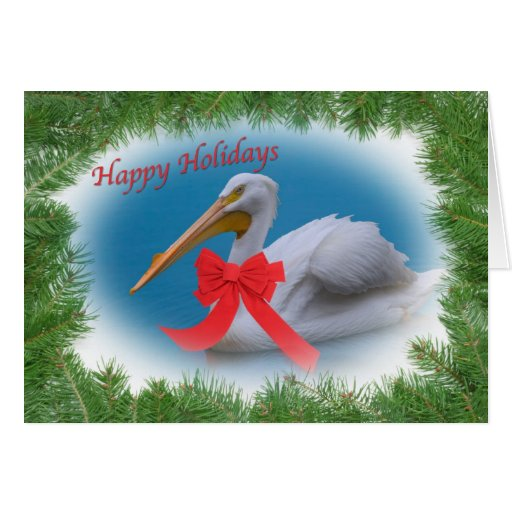 White Pelican Holiday Card