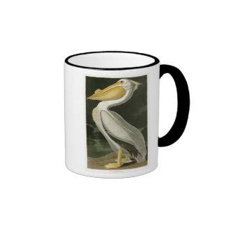 White Pelican John James Audubon Birds of America Ringer Mug