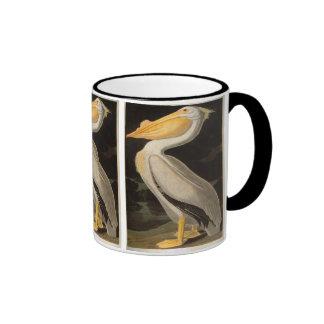 White Pelican, John James Audubon Ringer Mug