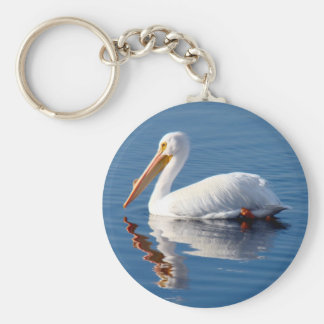 White Pelican Key Chain