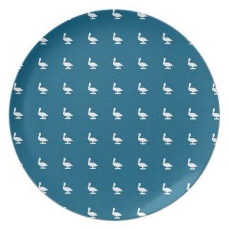 white pelicanes dinner plates