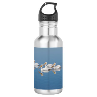 White Pelicans on Barr Lake Water Bottle