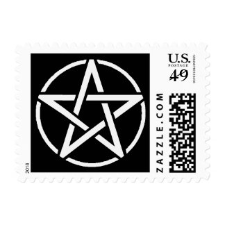 White Pentacle Stamp