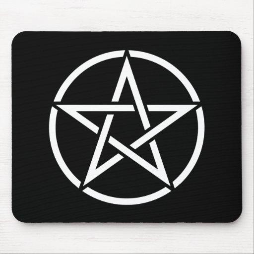 White Pentagram Mousepad