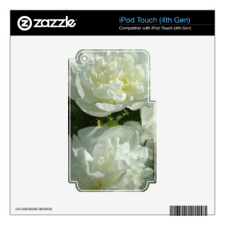 White Peonies iPod Touch 4G Decals