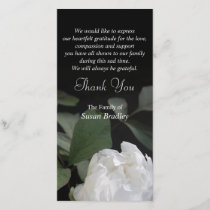 White Peony 1 Sympathy Thank You matching stamp