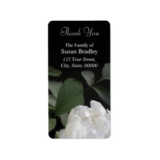 White Peony 1 Thank you Labels